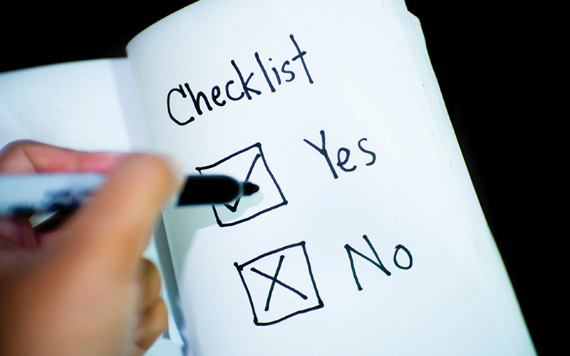 checklist for disaster recovery