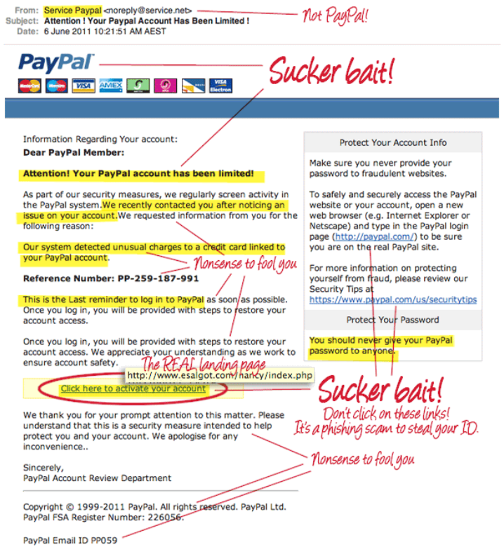 paypal spoof example